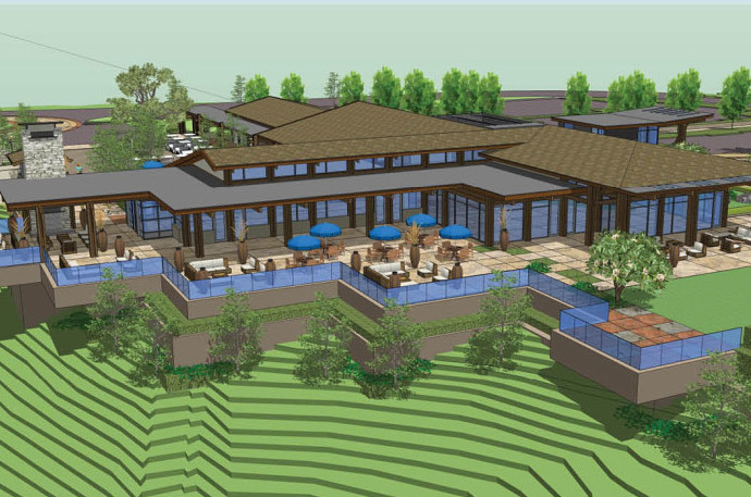 Golf course clubhouse design plans for Golf course house plans
