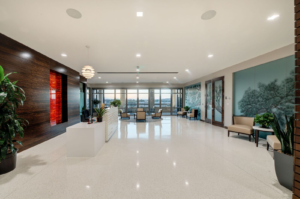 Image of new lobby in Procopio's Del Mar Heights office.